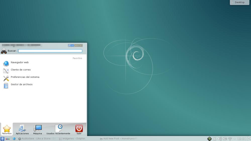 KDE Desktop Menú